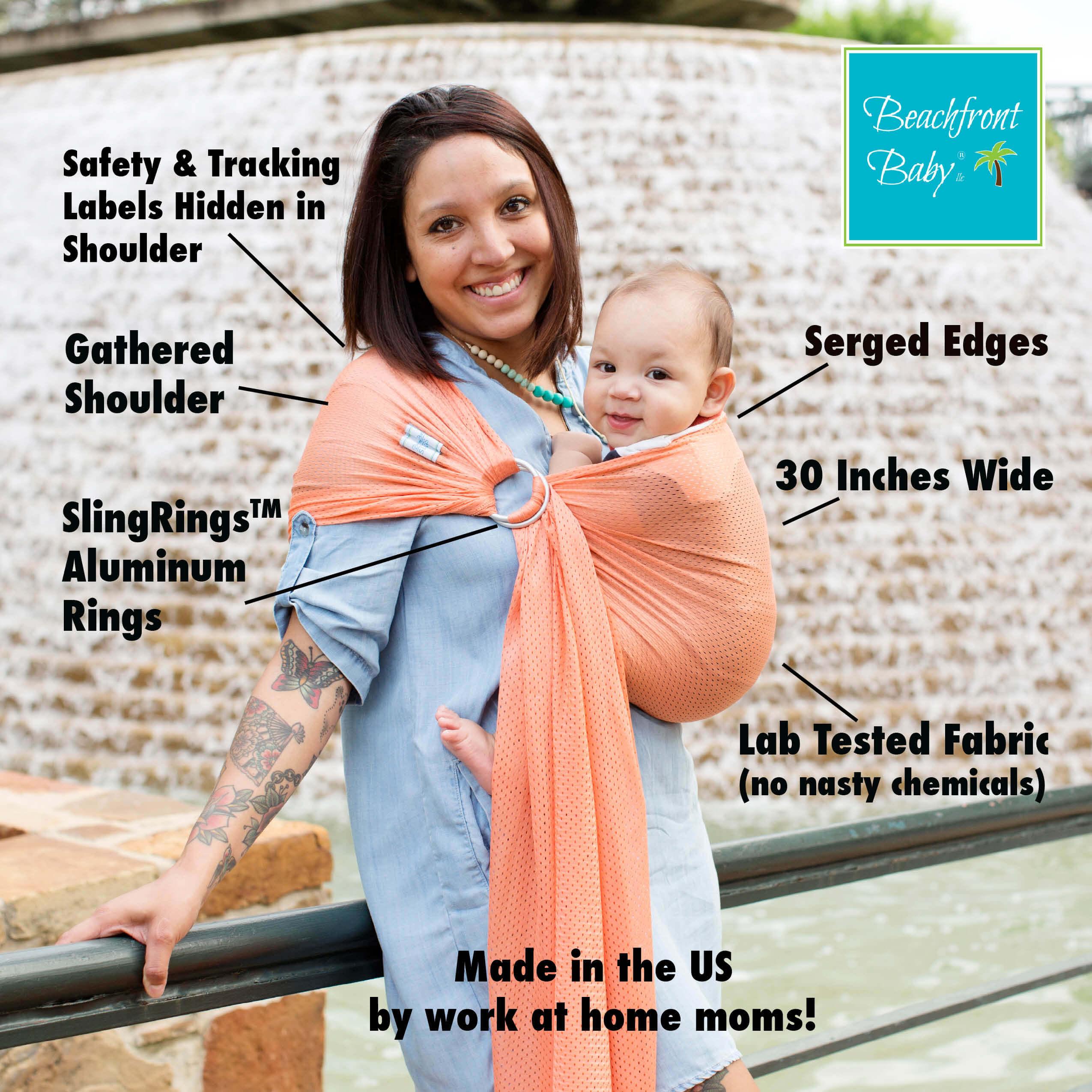 Petite Beachfront Baby Sling Beachfront Baby Versatile Baby Carriers