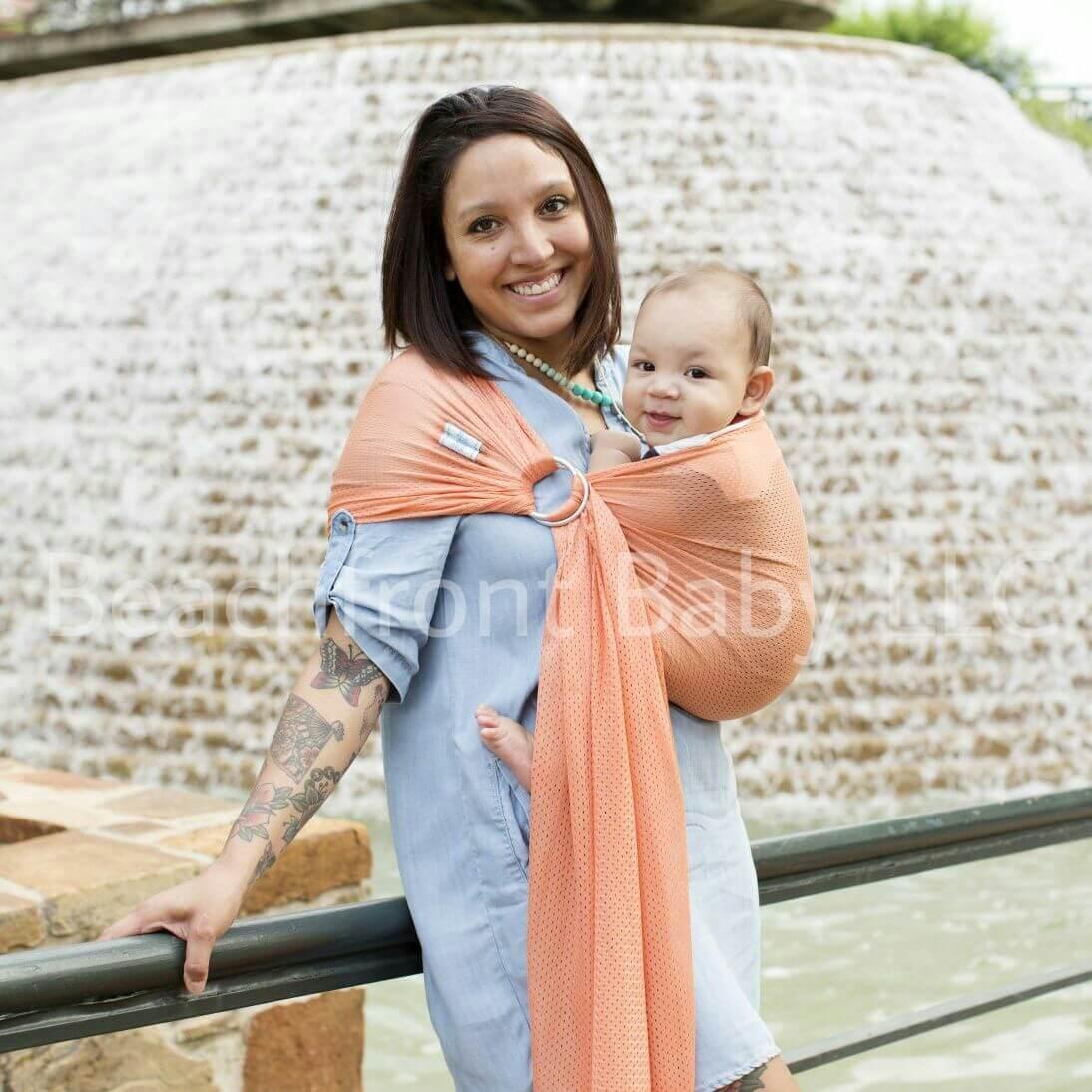 d971323adb5 Petite Beachfront Baby Sling – Beachfront Baby- Versatile Baby Carriers