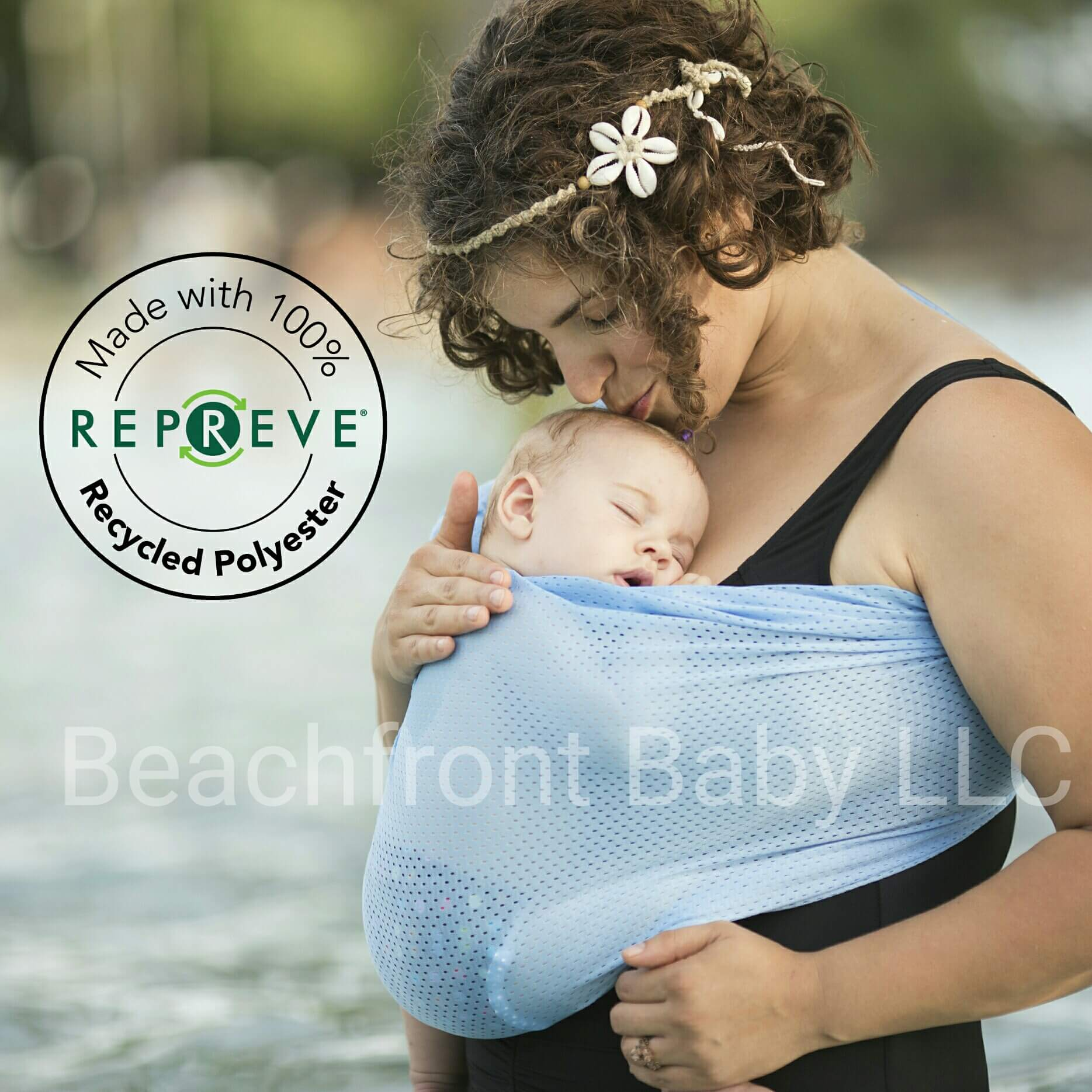Recycled Beachfront Baby Sling Made With Repreve Beachfront Baby