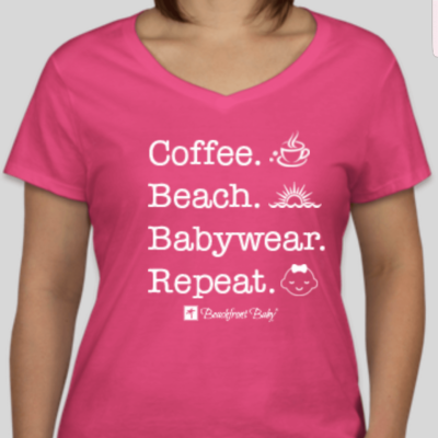 Coffee. Beach. Babywear. Repeat. Tshirt